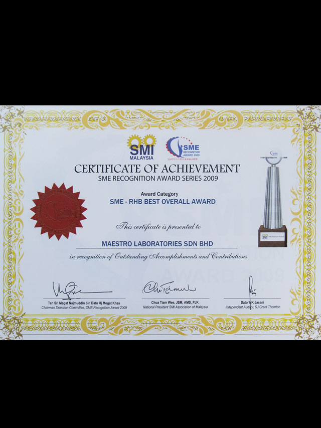 SME Best Overall Award in 2009