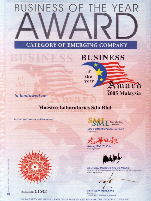 Award for the category of Emerging Company in 2006
